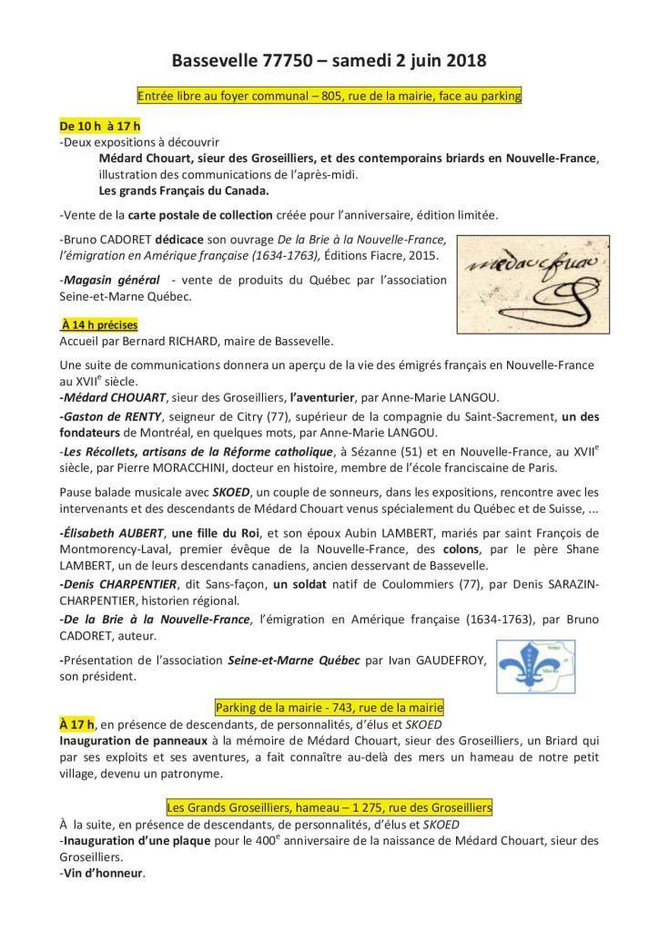 20180602_400e anniversaire Médard Chouart, affiche, programme, vie-2