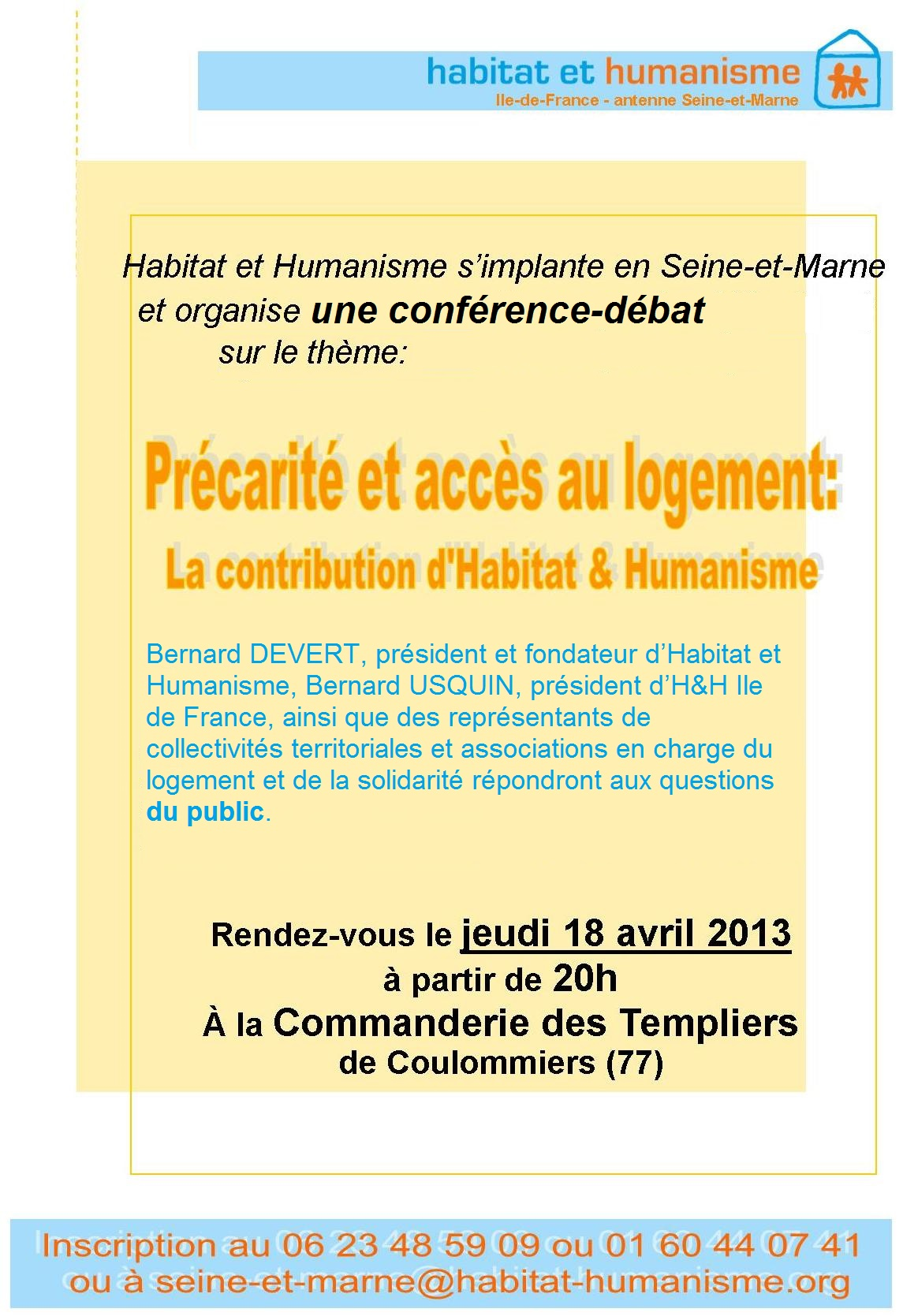 H&H - Affiche stand conférence 18 avril-2