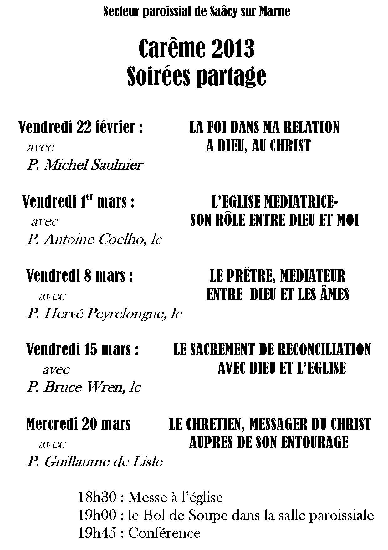 Saâcy Carême 2013