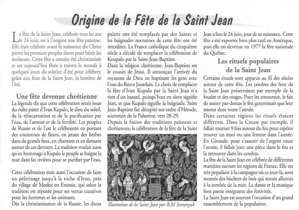 fête saint Jean