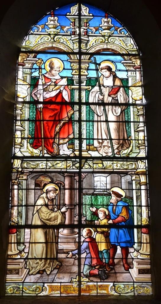 St Colomban benit les 2 fils de St Authaire Adon et Dadon