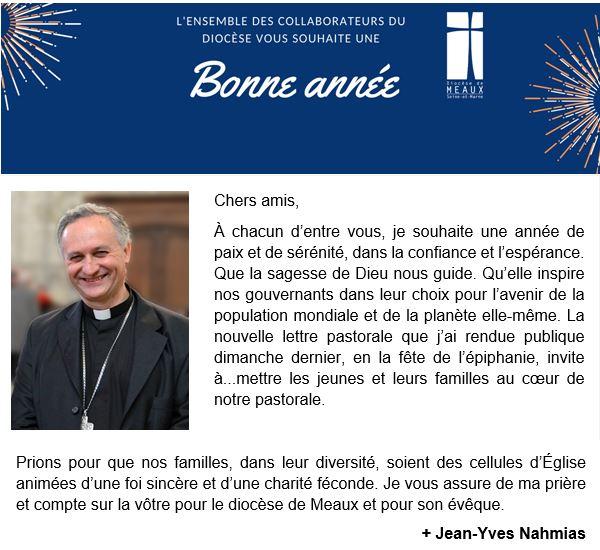 – 20210118 – Vœux de Mgr NAHMIAS pour le nouvel an