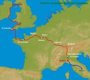 Les Chemins européens de Saint Colomban, futurs itinéraires culturels européens _