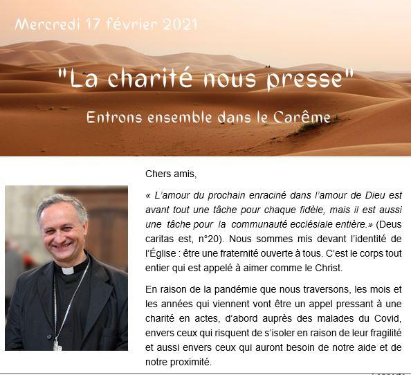– 20210212 – «La Charité nous presse» – Ensemble entrons dans le Carême.